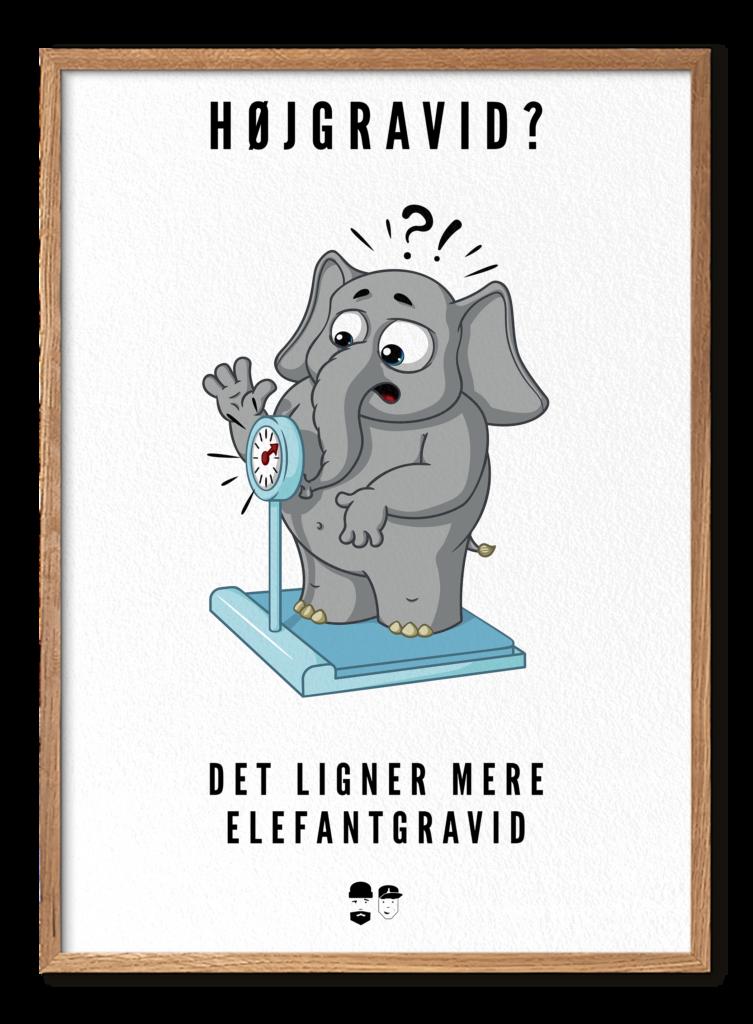 Elefantgravid m ramme - Lys
