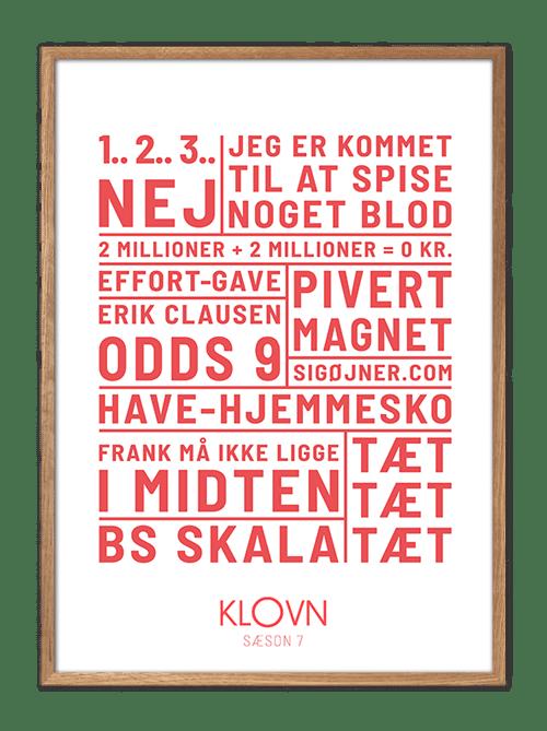 Klovn plakat, Klovn citat, Klovn citat plakat