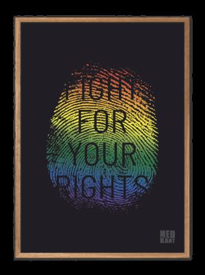 Fight for your rights - Fingeraftryk, plakater med stærke budskaber