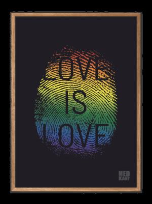 Love is love - Fingeraftryk, plakater med stærke budskaber