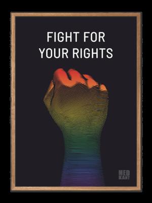 Fight for your rights - Fist, plakater med stærke budskaber