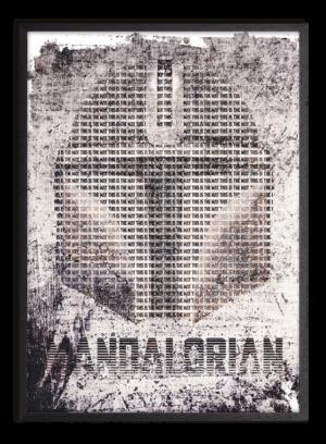 star wars plakat, mandalorian plakat