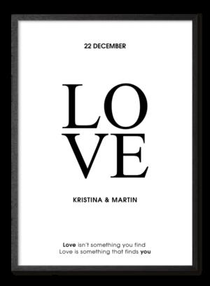 Kærlighed plakat, love poster, valentine plakat