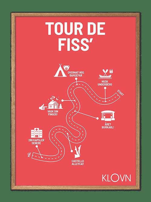 Tour de fiss, ruten, rød baggrund, underberg, ronja, bumkarl, castello allycat