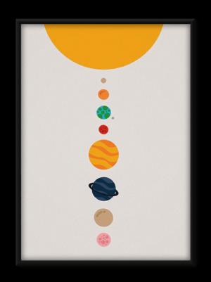 plakat, plakater, plakat til børn, solsystem